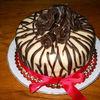 Tort zebra cu trandafiri negri