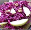 Salata de varza rosie cu mere si nuci