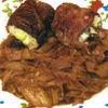 Rulade de carne cu orez si garnitura de varza
