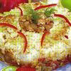 Coroana de orez cu sos de rosii si piept de pui