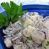 Salata cu ciuperci si cartofi
