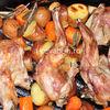 Friptura de iepure cu legume la cuptor