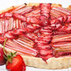 Tarta vegana cu rubarba si capsuni / Vegan rhubarb and strawberry tart