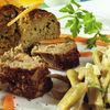 Rulada de carne cu garnitura de fasole galbena