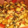 Piept de pui cu legume in vas roman