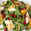 Salata de rucola cu pui, portocala si rodie