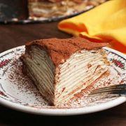 Tort tiramisu din clătite. Un desert simplu, dar spectaculos!