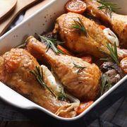 Pui cu cartofi la cuptor, în stil grecesc