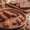 Batoane de ciocolata cu lapte praf, rom si alune