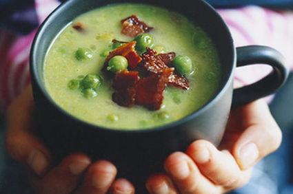 Supă de mazăre cu bacon