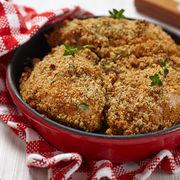 Pui în crustă de parmezan şi usturoi