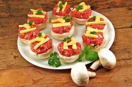 Ciuperci umplute la grătar