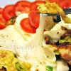 Omleta cu afumatura si mozzarella