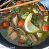 Curry verde tailandez, cu pui si legume (Thai green curry with chicken)