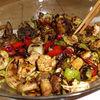 Salata de pui si legume la gratar