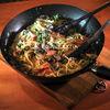 Spaghete cu somon, mazare si ciuperci