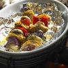 Frigarui din piept de pui, aromate in marinata cu ulei de masline