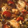 Ciocanele de pui cu vinete si ciuperci