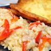 Piccata de jambon cu parmezan si risotto cu ardei gras