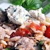 Salata fresh de risoni cu ton si ricotta