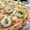 Tort cu banana si mousse de kiwi