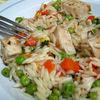 Salata calda de paste cu pui si legume