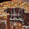 Prajitura de post (negresa) cu gem si ciocolata
