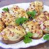 Cartofi umpluti cu jambon si cascaval