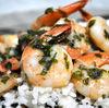 Creveti cu sos de lamaie si usturoi, pe pat de orez cu parmezan