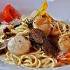 Spaghetti cu scoici Saint Jacques in sos alb