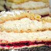 Tort choux cu visine si crema diplomat cu rom