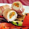 Butoiase de pui cu sparanghel, morcov si bacon