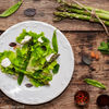 Salata cu sparanghel, branza de capra si menta / Grilled asparagus, goat cheese and mint salad