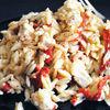 Salata de paste cu ardei copt si feta