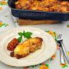 Pollo alla parmigiana - snitel de pui in sos de rosii