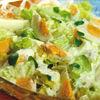 Salata verde cu sos si oua