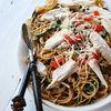 Spaghetti cu spanac si piept de pui