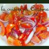 Salata de rosii, ardei si ceapa