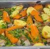 Pulpe de pui la cuptor cu cartofi dulci