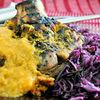 Friptura de porc in sos de bere, cu legume, chimen si maghiran