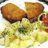 Snitele crocante cu cartofi natur