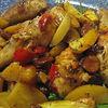 Copanele de pui cu legume si vin la cuptor