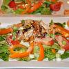 Salata cu pui picant, mandarine si vinegreta cu mustar