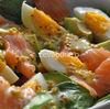 Salata de spanac cu somon afumat si avocado
