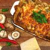Lasagna cu ciuperci si carne tocata