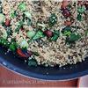 Salata de quinoa cu ceapa verde si migdale