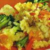 Mancare de orez cu broccoli si conopida
