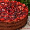 Tort mousse de ciocolata cu capsuni