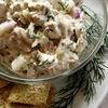 Salata de pui cu sos de lapte batut