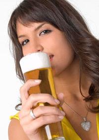 Pentru fete, despre bere
